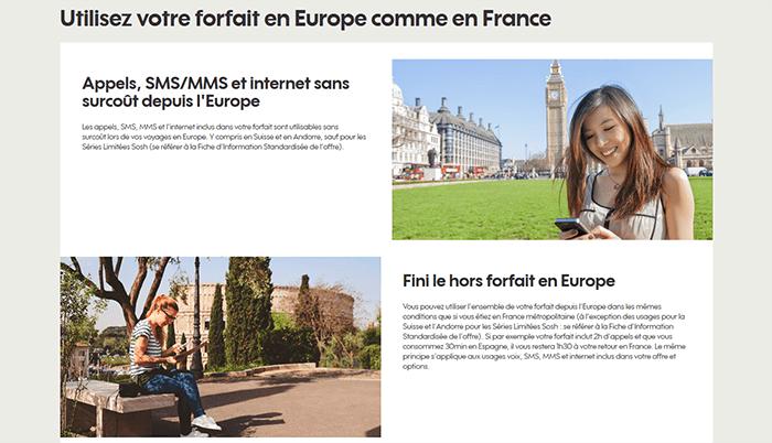 Forfait en Europe Sosh