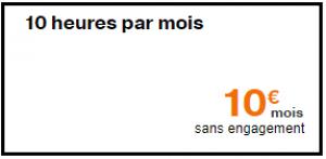Forfait 10h Tunisie Orange