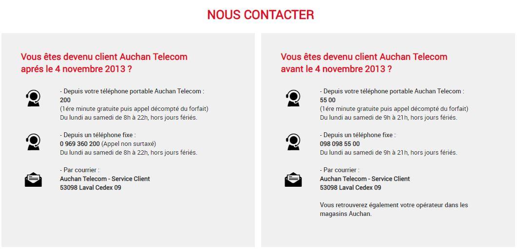 support client auchan telecom